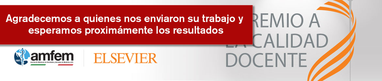 Agradecimiento participacion - Premio AMFEM Elsevier